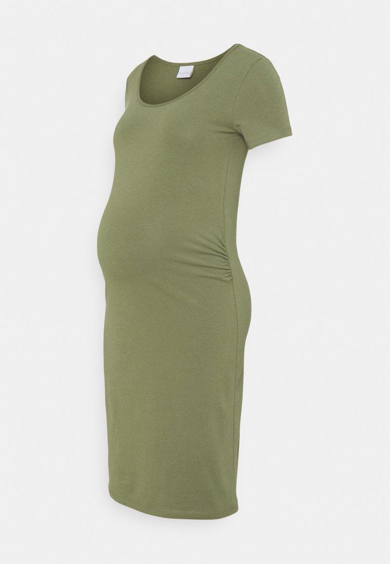 MAMALICIOUS - MLLEA DRESS - Jerseykjole - olivine