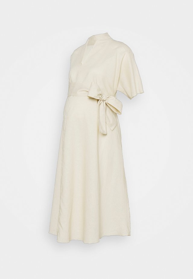 BOW MIDI DRESS - Korte jurk - cream