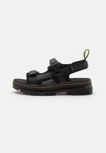 FORSTER UNISREX - Walking sandals - black