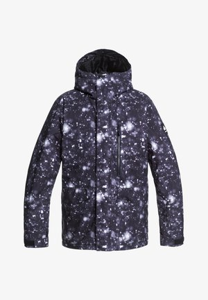 MISSION - Snowboard jacket - true black woolflakes