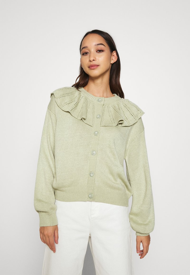 Monki - MIMMI  - Strikjakke /Cardigans - green