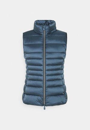 IRIS LYNN - Waistcoat - steel blue