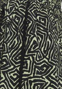Proenza Schouler White Label - PRINTED TIE WAIST SKIRT - A-line skirt - black/spanish moss - 5