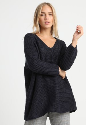 NMVERA V NECK - Jumper - night sky
