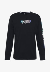 Hollister Co. - LARGE SCALE TECH LOGO  - Long sleeved top - black - 4