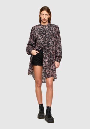 D-SUPER-H-LONG - Shirt dress - black   violet