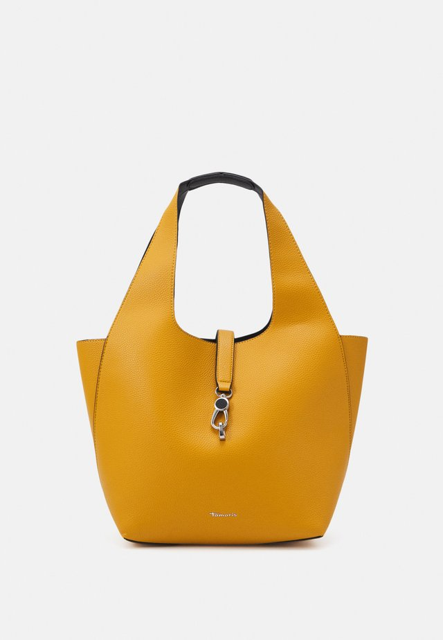 CORDULA SET - Shopping bag - yellow/black