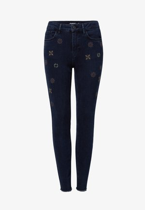 JULIETA - Jean slim - denim blue black