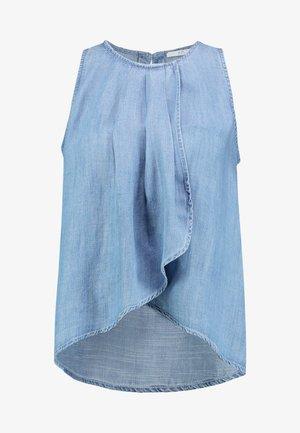 PINTUCK - Blouse - blue light wash