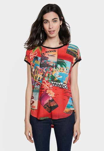 COLOMBIA - Print T-shirt - red