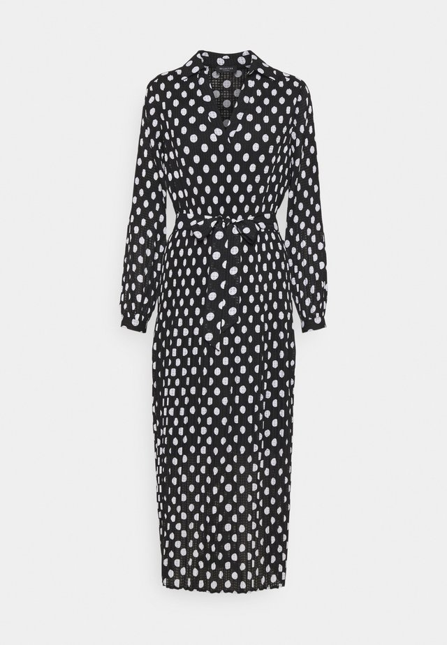 SLFLADY POPPY MIDI DRESS - Robe d'été - black/white