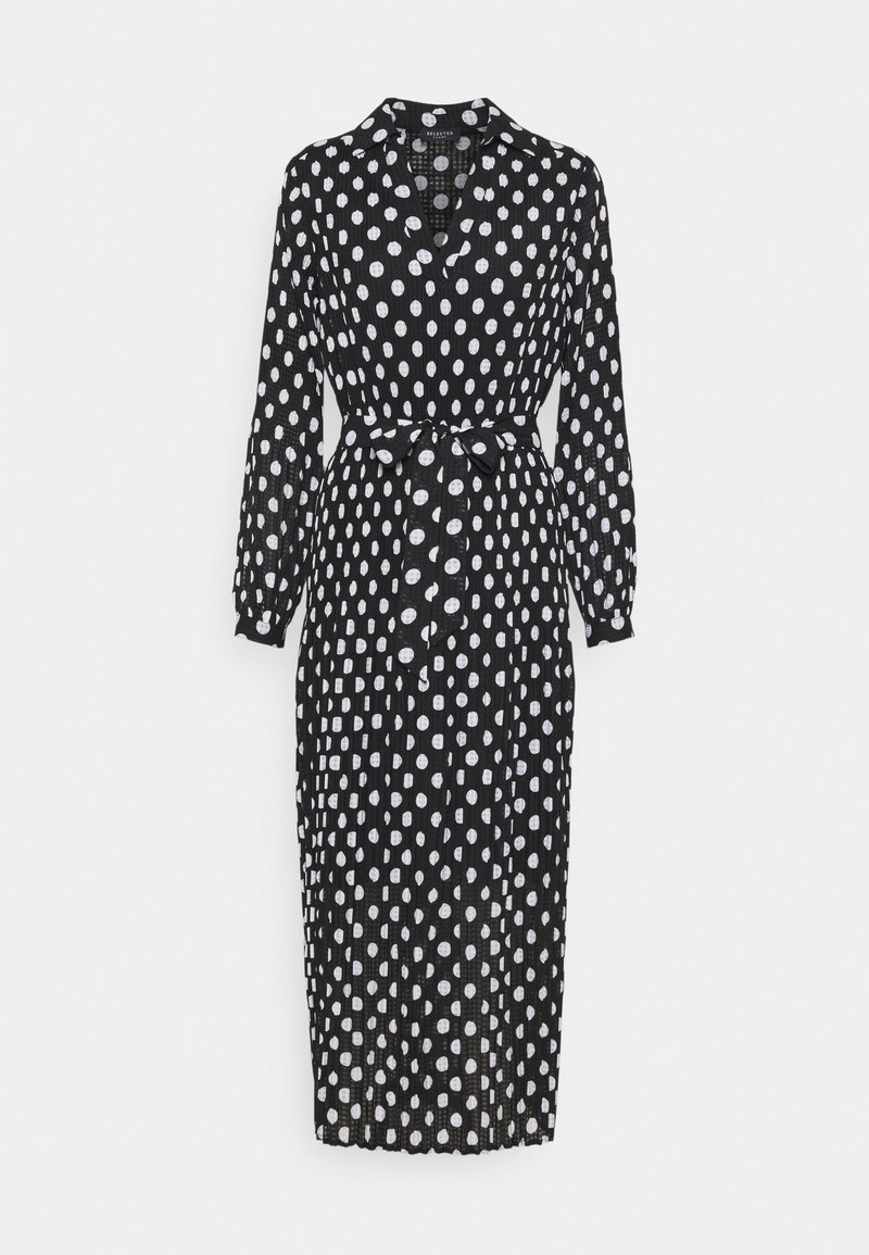 Selected Femme - SLFLADY POPPY MIDI DRESS - Robe d'été - black/white
