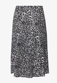 Even&Odd - BASIC - Midi A-line skirt - A-line skirt - white/black - 1