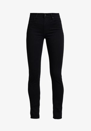 721 HIGH RISE SKINNY LONG SHOT - Slim fit -farkut - black