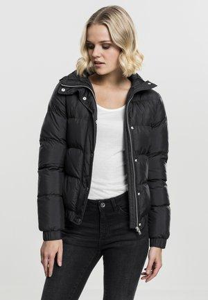 LADIES HOODED PUFFER - Winter jacket - black