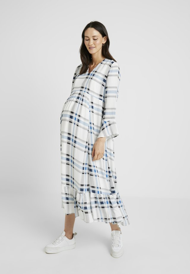 MIDI MATERNITY DRESS - Maxi dress - snow white