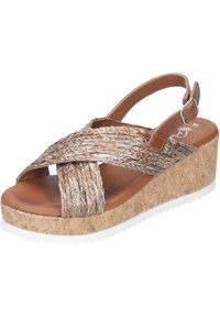 Piazza - Wedge sandals - taupe - 1