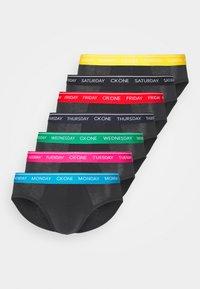 Calvin Klein Underwear - DAYS OF THE WEEK HIP BRIEF 7 PACK - Briefs - black - 9