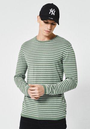 Trui - green/grey
