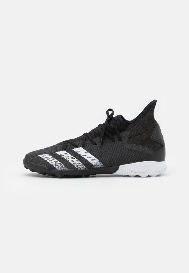 PREDATOR FREAK .3 TF - Voetbalschoenen voor kunstgras - core black/footwear white