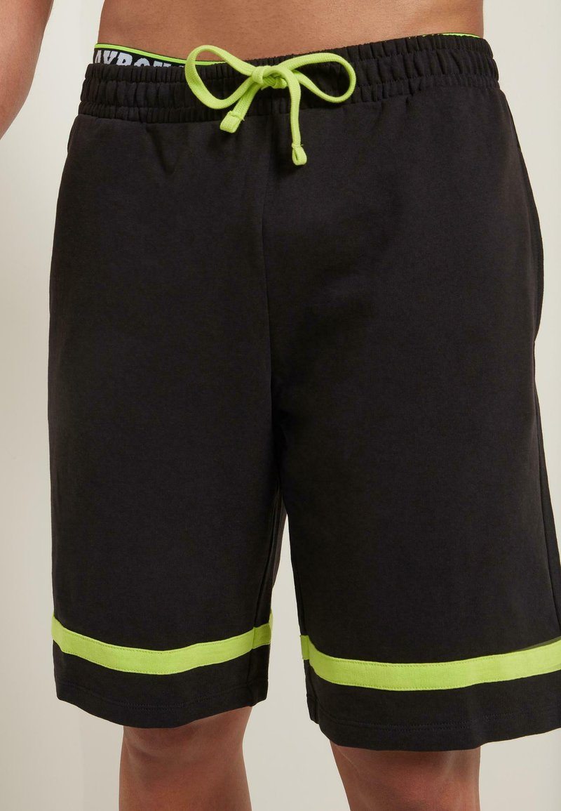 Tezenis - MIT STREIFEN - Shorts - - - black/apple green