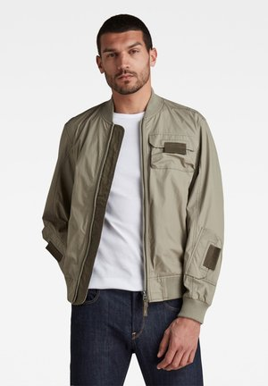 CHEST POCKETS POPLIN BOMBER - Bomber Jacket - shamrock