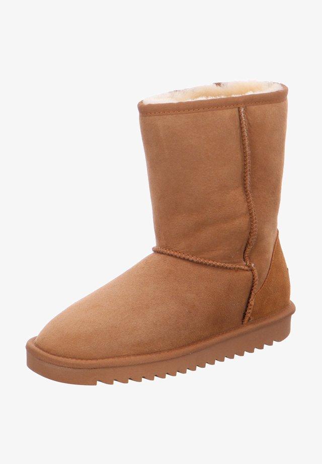 ALASKA - Winter boots - cognac