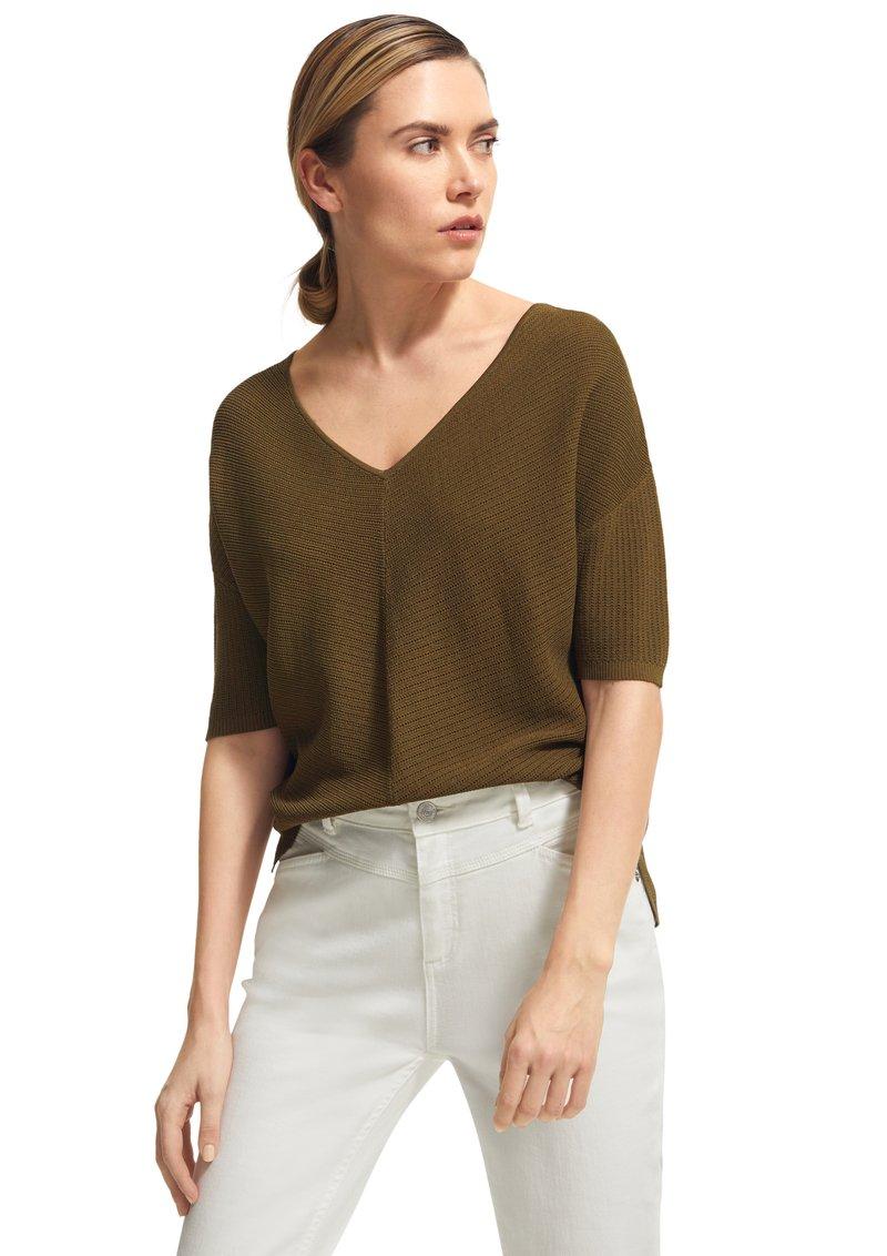 comma - Basic T-shirt - green