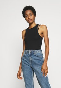 Weekday - CALYPSO CUT OUT TANK - Topper - black - 0