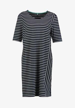 Jersey dress - blau/ecru/weiss patch