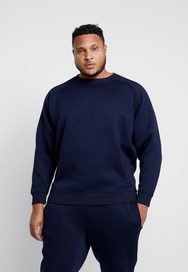 ZIP POCKET CREW PLUS SIZE - Felpa - midnight navy