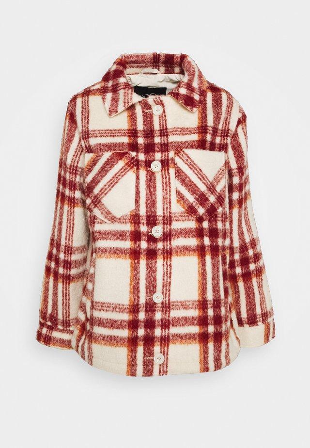 PLAID SHACKET - Leichte Jacke - red