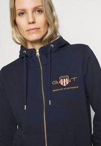 GANT - ARCHIVE SHIELD FULL ZIP HOODIE - Zip-up hoodie - evening blue - 5