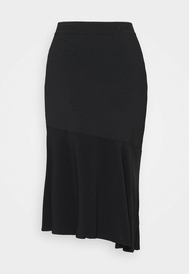 CADY MIX SKIRT - Blyantnederdel / pencil skirts - black