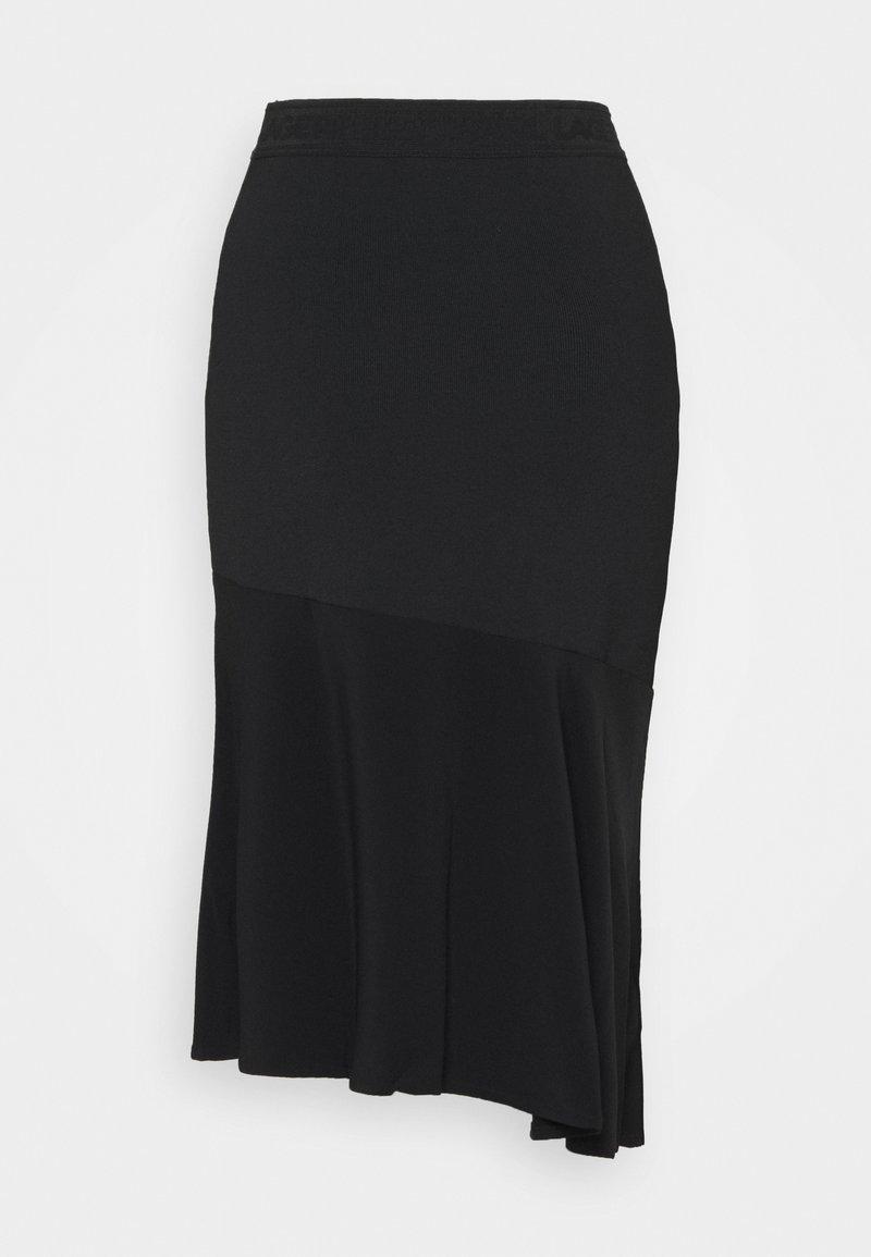 KARL LAGERFELD - CADY MIX SKIRT - Pencil skirt - black