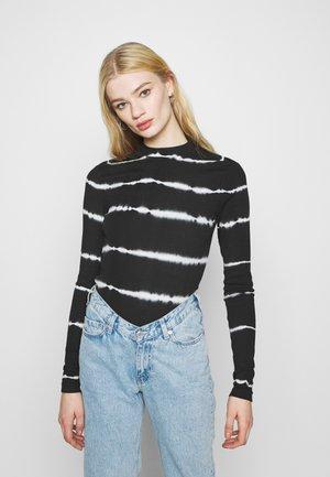 VERA MOCKNECK - Maglietta a manica lunga - black
