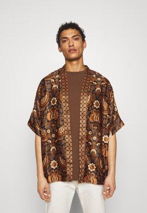 SUMBA2 KIMONO - Poncho - black/brown