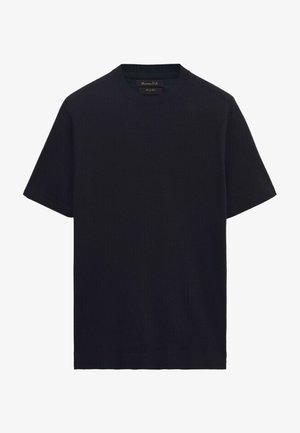 Basic T-shirt - blue-black denim