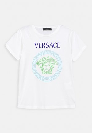 SHORT SLEEVES AND MEDUSA PRINT UNISEX - Print T-shirt - white/bluette/light blue