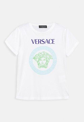 SHORT SLEEVES AND MEDUSA PRINT UNISEX - Print T-shirt - white/bluette/light blue