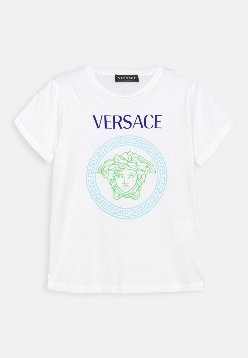 Versace - SHORT SLEEVES AND MEDUSA PRINT UNISEX - Triko spotiskem - white/bluette/light blue