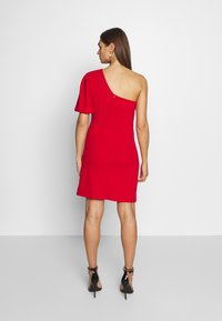 WAL G. - ONE SHOULDER BELL SLEEVE DRESS - Cocktail dress / Party dress - red - 2