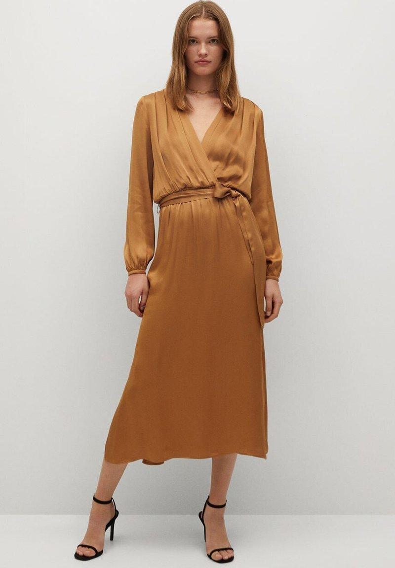 Mango - Maxi dress - okker