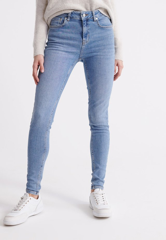 SUPERDRY MID RISE SKINNY JEANS - Jeans Skinny Fit - mid indigo