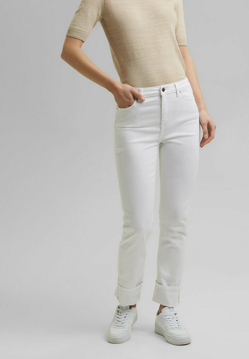 Esprit - Straight leg jeans - white