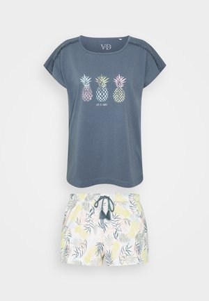 SHORTY - Pyjamas - blue/white