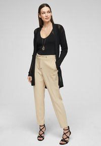 s.Oliver BLACK LABEL - Pantalon classique - beige - 1