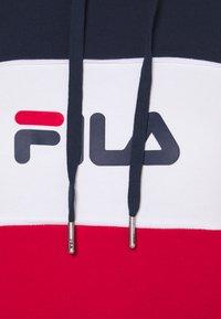 Fila - AQILA BLOCKED HOODY - Felpa - true red/black iris/bright white - 5