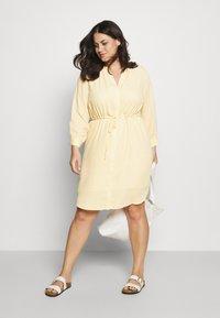 Selected Femme Curve - SLFAMINA DRESS CURVE - Day dress - sandshell - 1