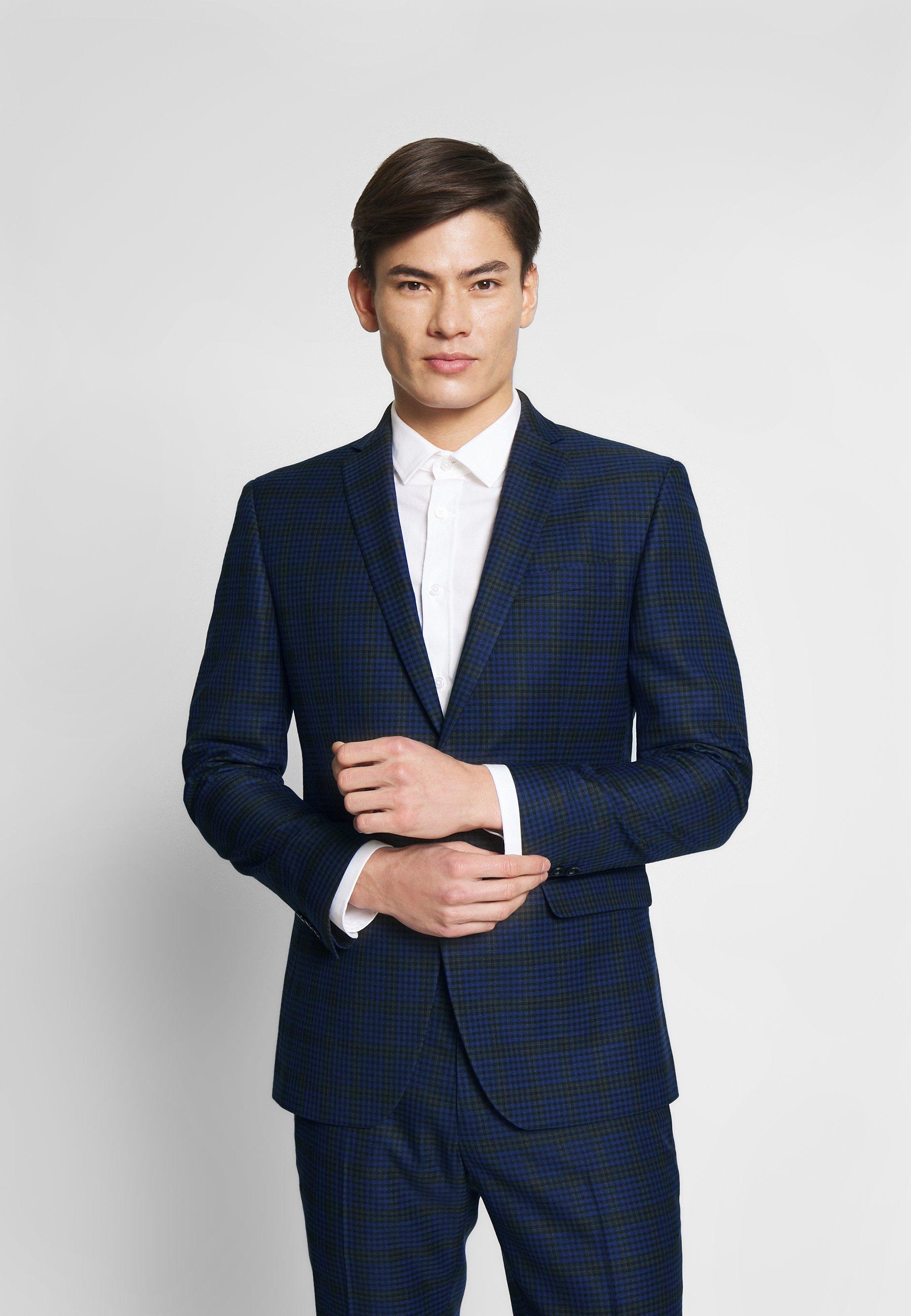 Ben Sherman Tailoring CHECK SUIT - Garnitur - blue - Odzież męska 2020